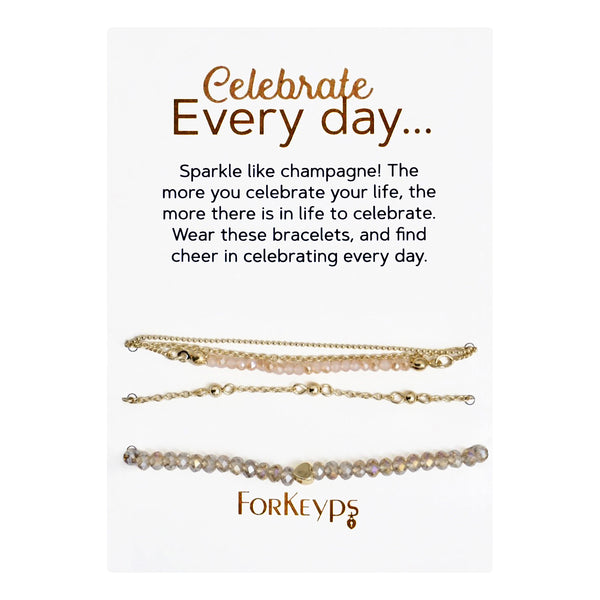 """Celebrate Every Day"" Bracelets Gift Box Set"