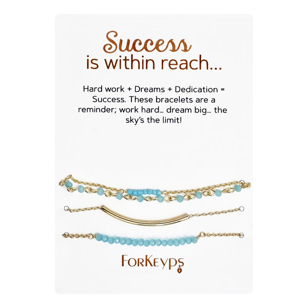 """Success is Within Reach"" Bracelets Gift Box Set"