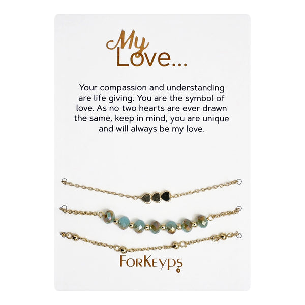 """My Love"" Bracelets Gift Box Set"