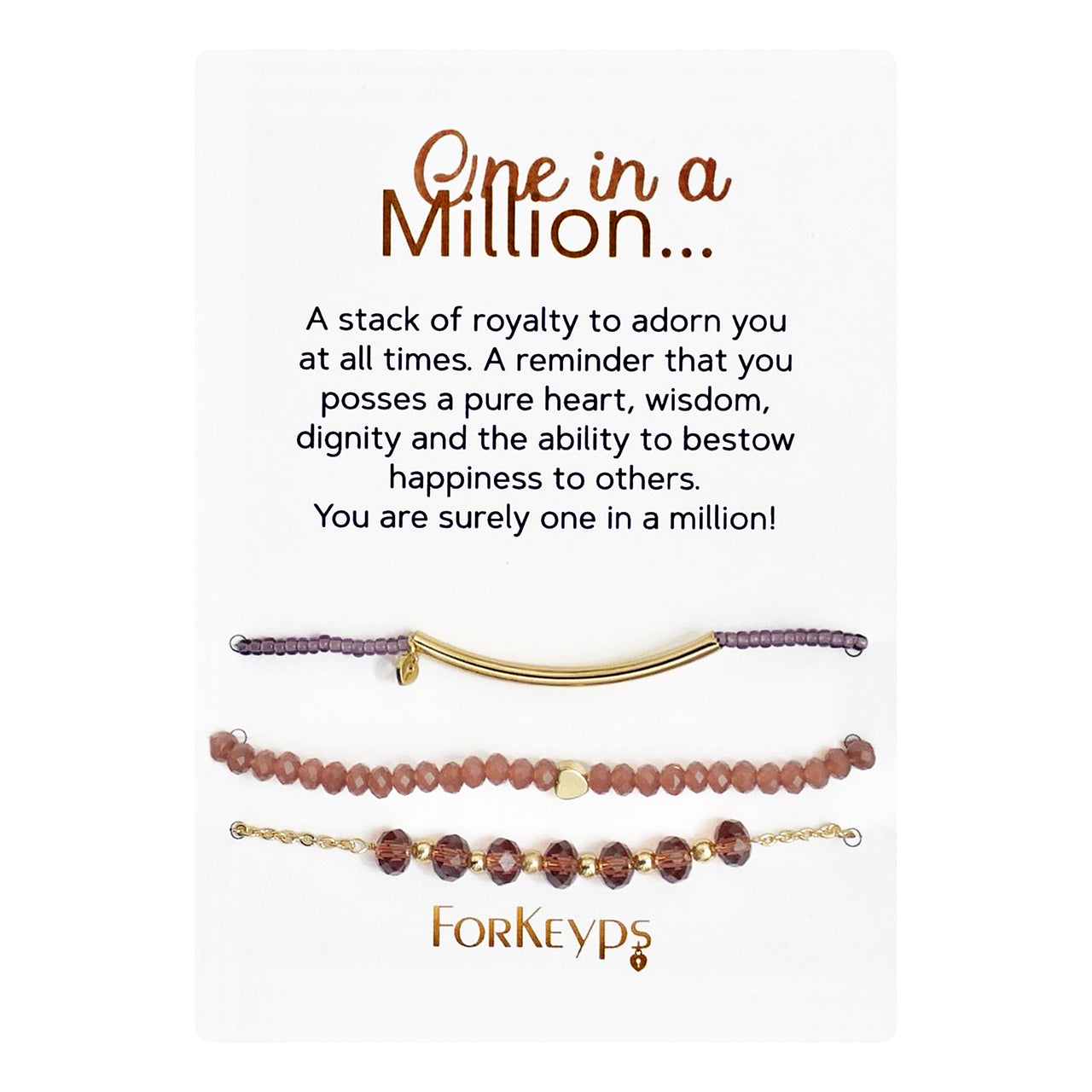 """One In A Million"" Bracelets Gift Box Set"