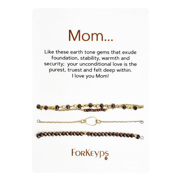 """Mom"" Bracelets Gift Box Set"