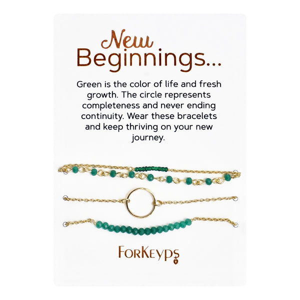 """New Beginnings"" Bracelets Gift Box Set"
