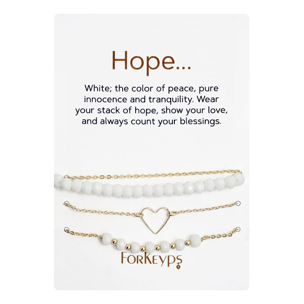 """Hope"" Bracelets Gift Box Set"