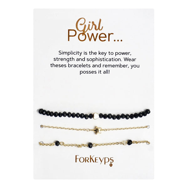 """Girl Power"" Bracelets Gift Box Set"