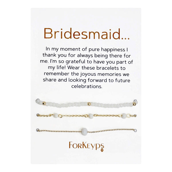 """Bridesmaid"" Bracelets Gift Box Set"