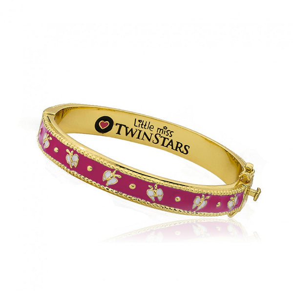 OUTFIT MAKERS Hot Pink Butterflies Bangle