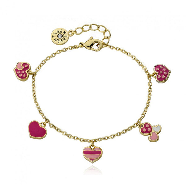 I LOVE MY JEWELS Hearts Charm Bracelet