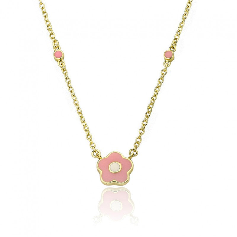FROSTED FLOWERS Pink Dainty Flower Necklac