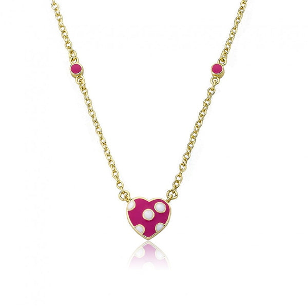 I LOVE MY JEWELS Polka Dot Heart Necklace