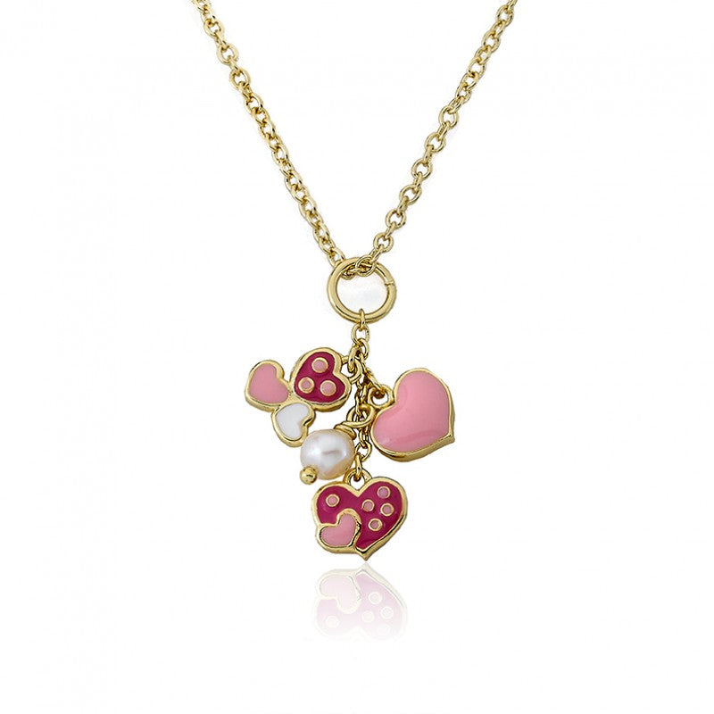 I LOVE MY JEWELS Heart Cluster Necklace