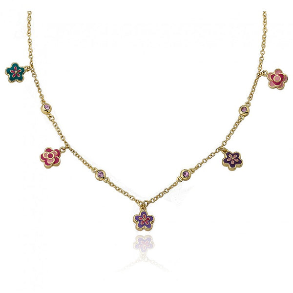 FROSTED FLOWERS Dainty Flower Necklace