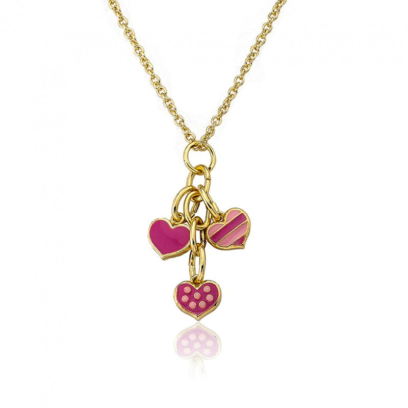 I LOVE MY JEWELS Heart Cluster Chain Necklace