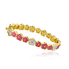 FLOWERY GLITZ Crystal Flowers Bangle
