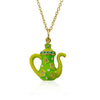 Tea 4 Two Crystal Tea Pot Necklace