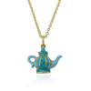 Tea 4 Two Crystal Tea Pot Necklace 2