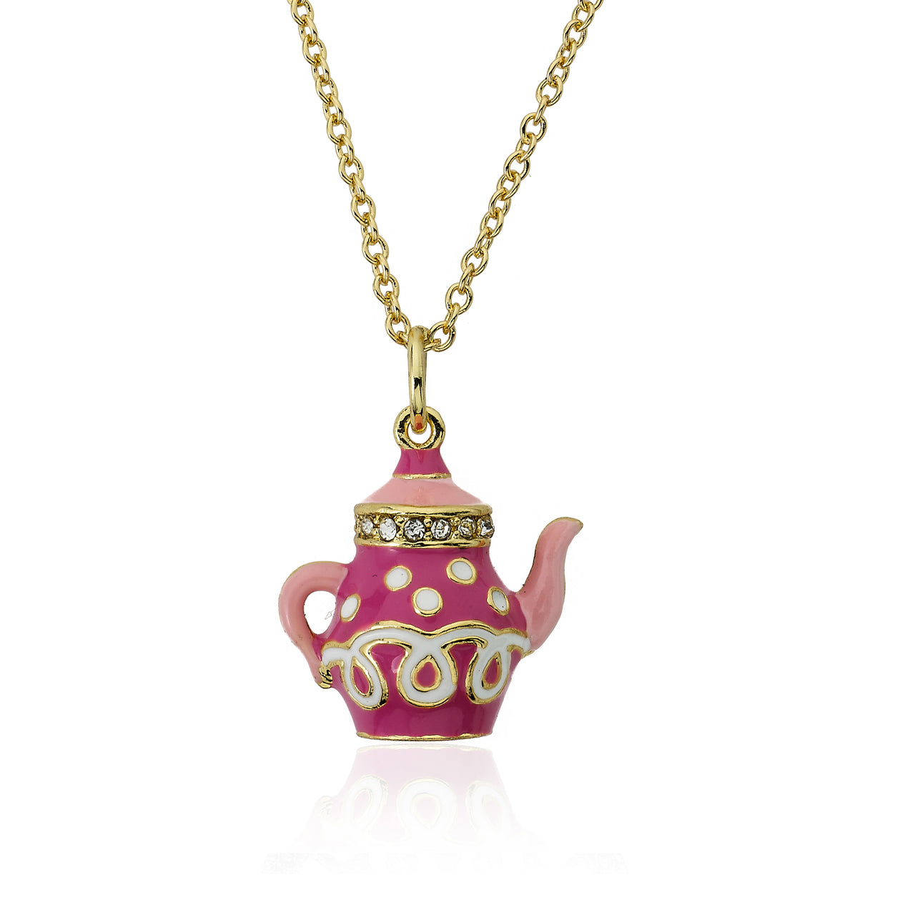 Tea 4 Two Crystal Tea Pot Necklace 4