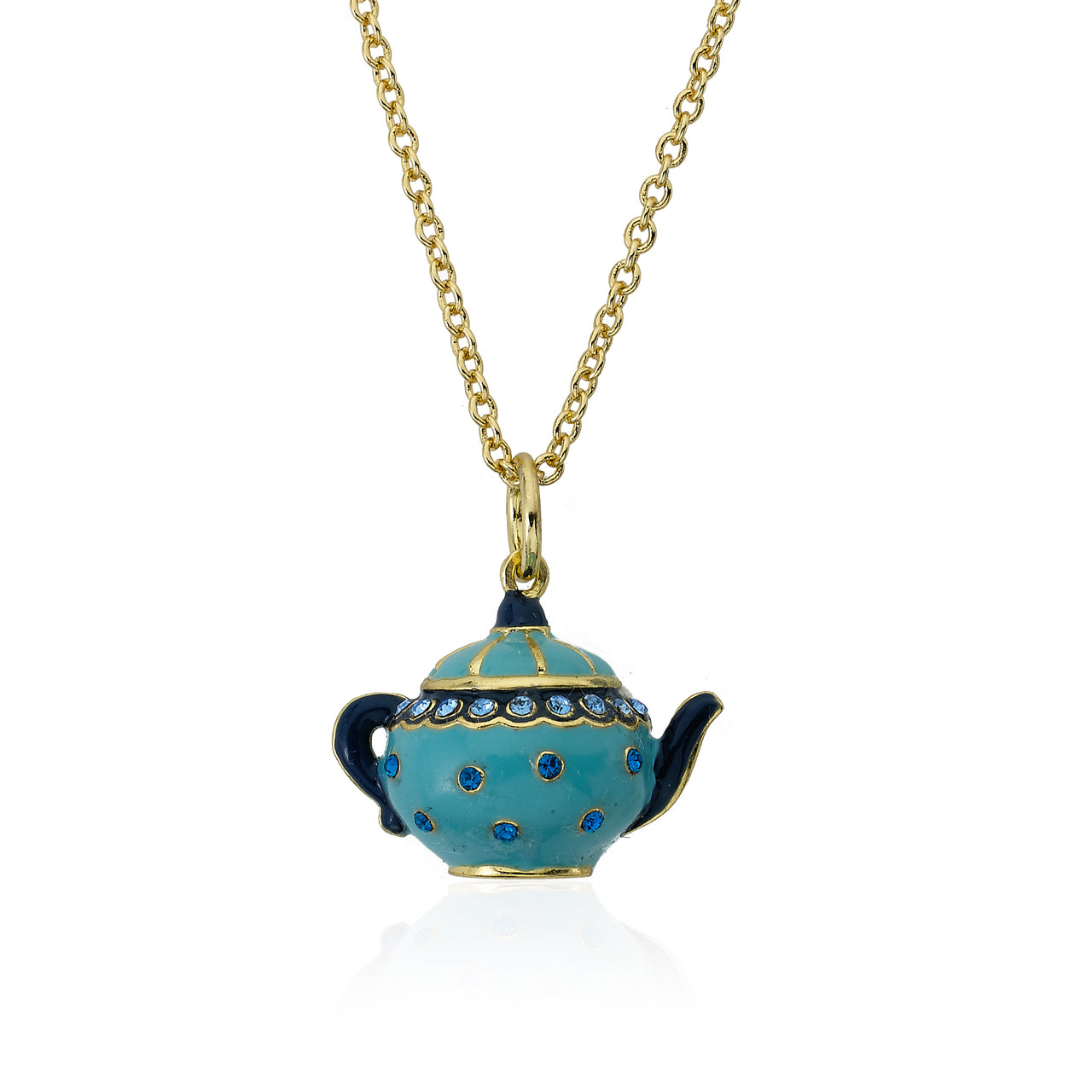 Tea 4 Two Crystal Tea Pot Necklace 6