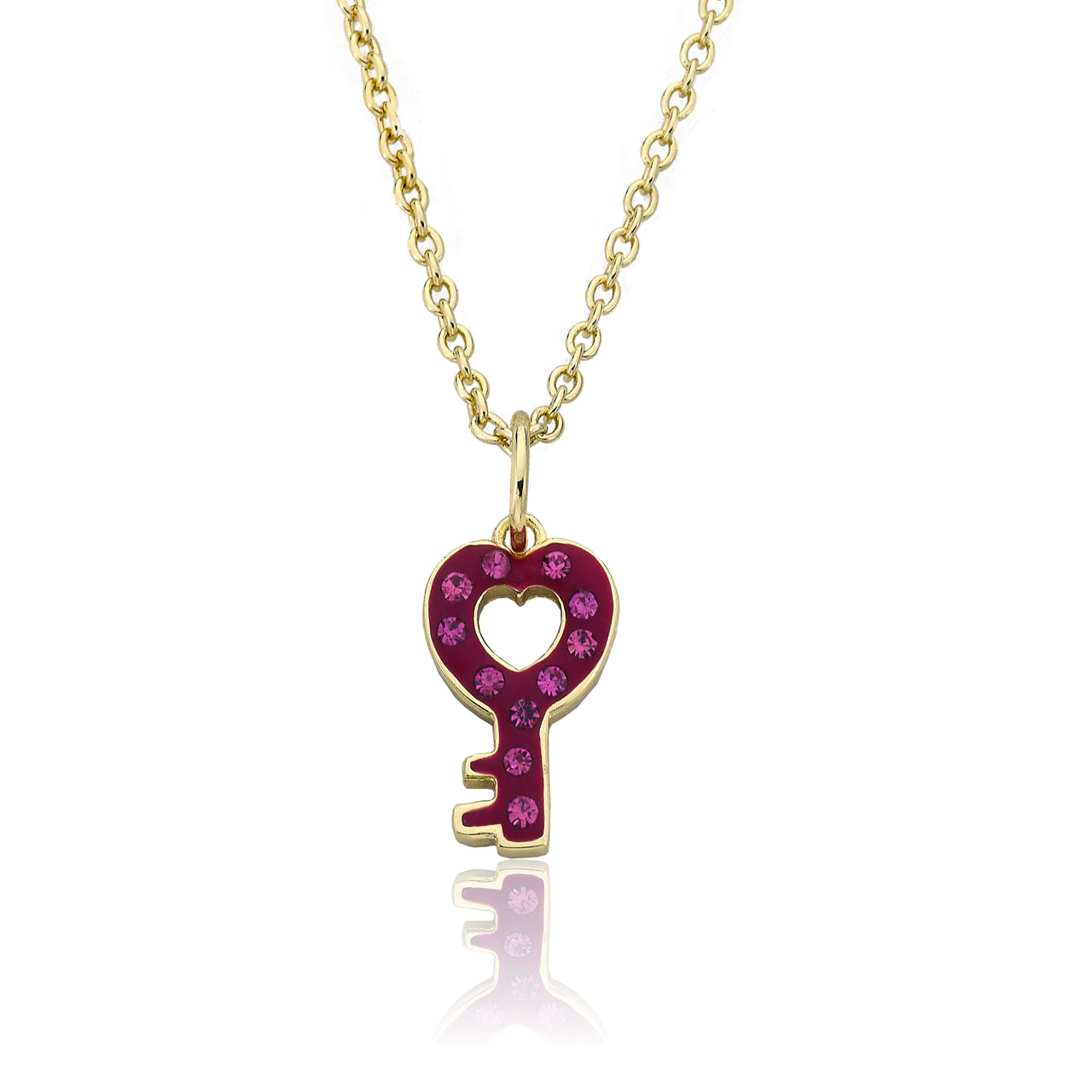 Heart Of Jewels Crystal Heart Shape Key Chain Necklace