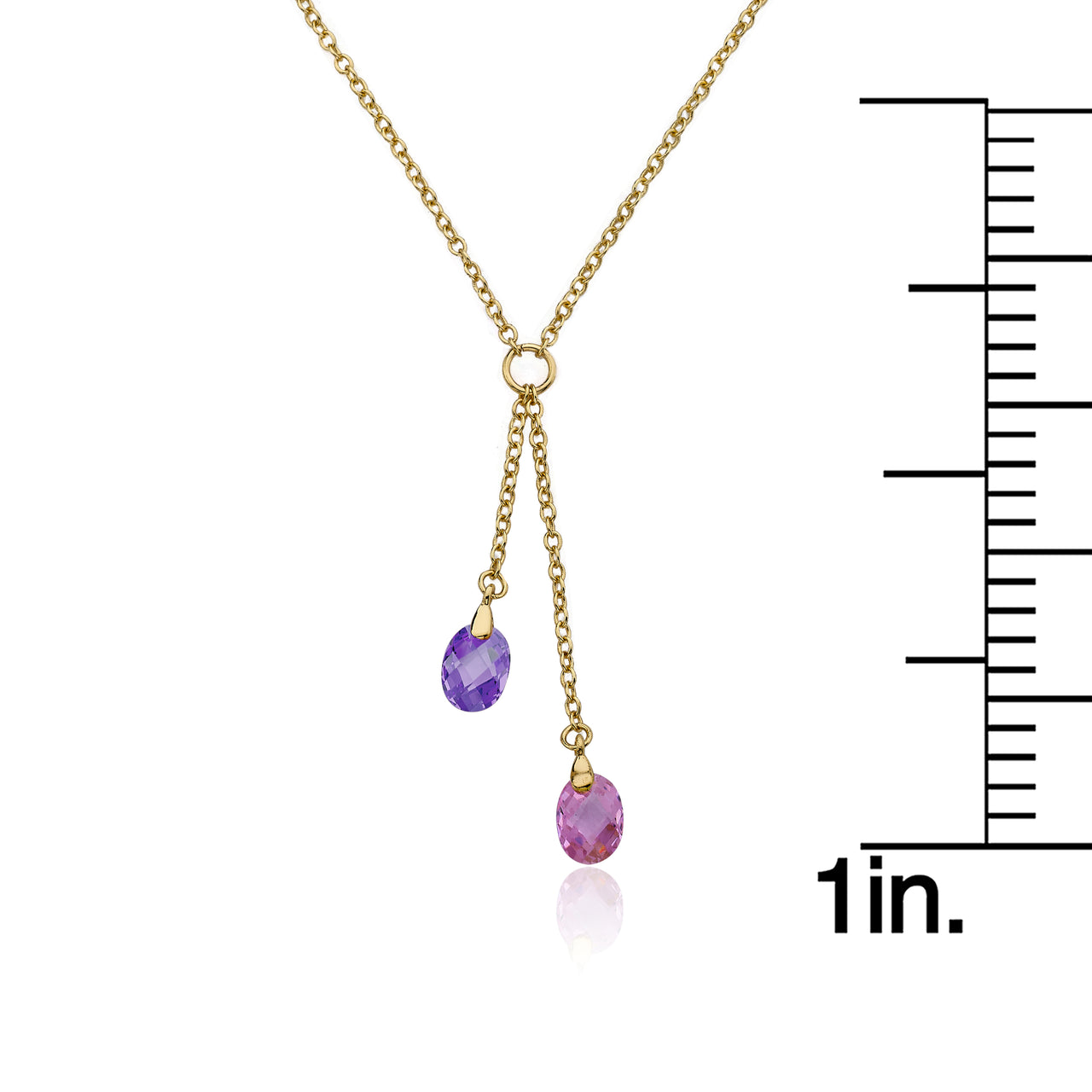 CLASSIC Gold Crystal Lariat Necklace