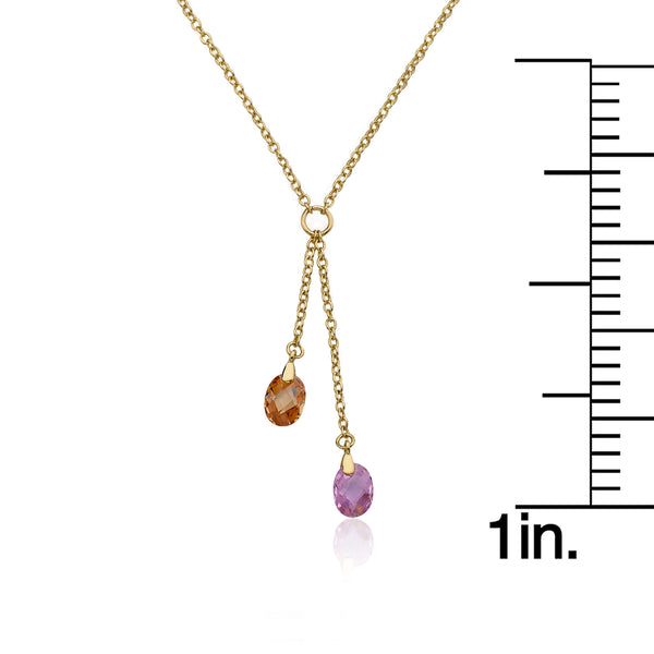 CLASSIC Multi Crystal Lariat Necklace