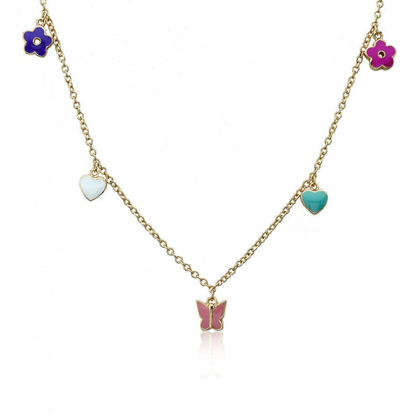 CHARMING TREATS Multiple Charms Necklace