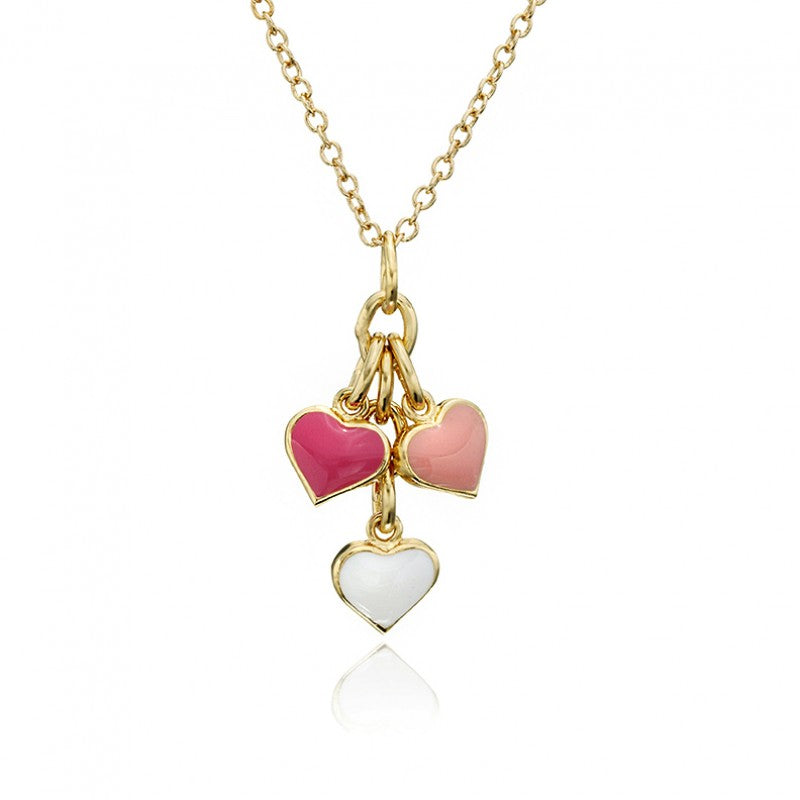 I LOVE MY JEWELS Triple Cluster Heart Necklace
