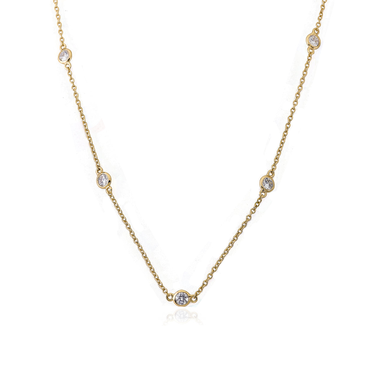 Retro Diamond By The Yard Necklace