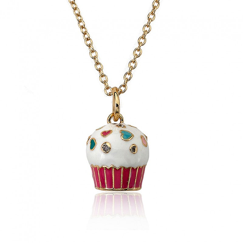 CANDYLAND Vanilla Cupcake Pendant Necklace