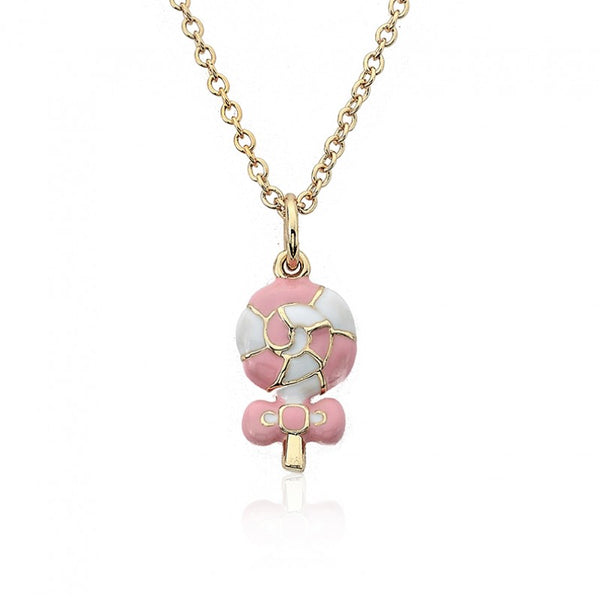 CANDYLAND Swirl Lollipop Pendant Necklace