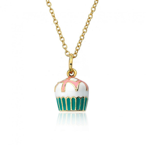 CANDYLAND Frosted Lattes Topped Cupcake Pendant Necklace