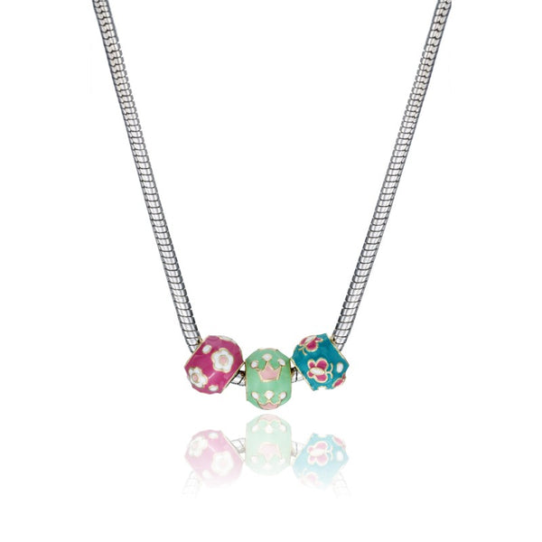 SUPERSTAR CUTIE Three Slide Enamel Multi Necklace