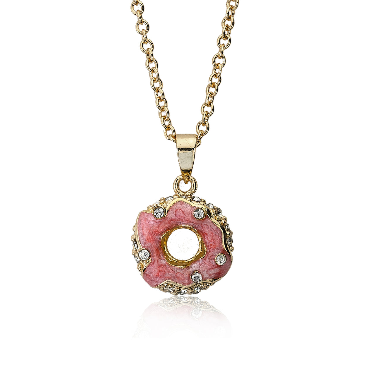 Sparkle Sweet Crystal Donut Necklace