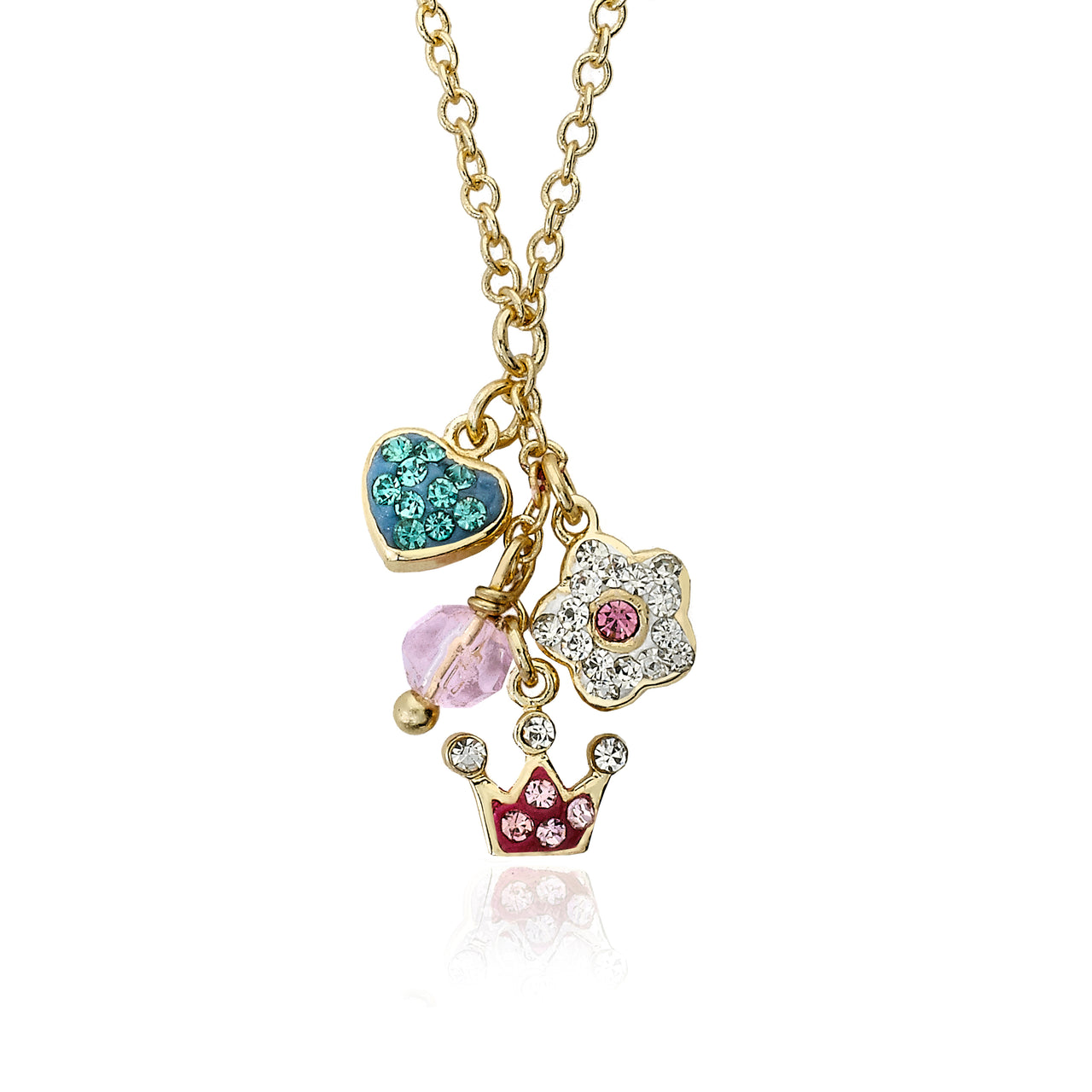 Pretty Princess Crown, Heart & Butterfly Necklace 2