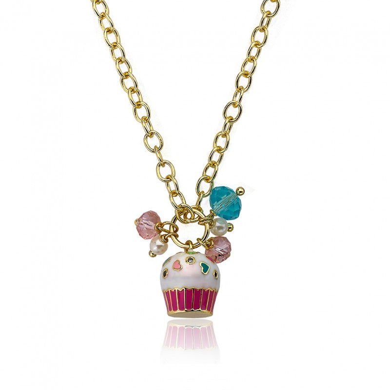 CANDYLAND Sprinkled Cupcake Cluster Chain Necklace