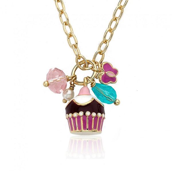 CANDYLAND Cupcake Cluster Charm Necklace