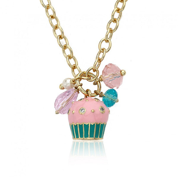 CANDYLAND Strawberry Frosted Cluster Charm Necklace