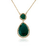 Precious Green Agate Gem Stone Teardrop Necklace
