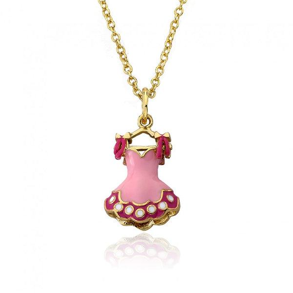 BALLET BEAUTY Ballerina Dress Pendant Chain Necklace