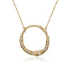 Retro Satin Open Circle Necklace
