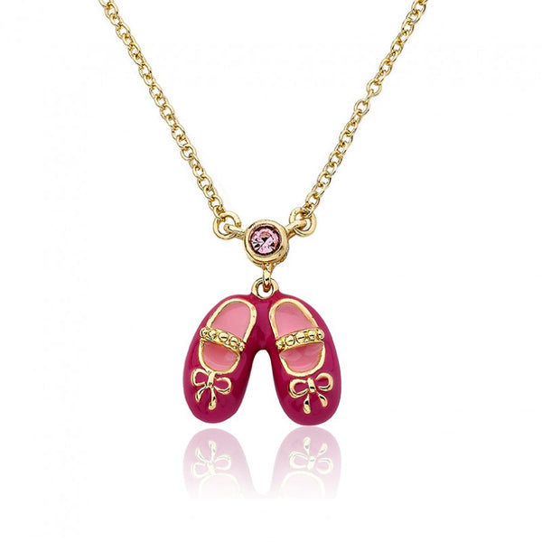 BALLET BEAUTY Tipped Ballet Shoe Pendant Chain Necklace