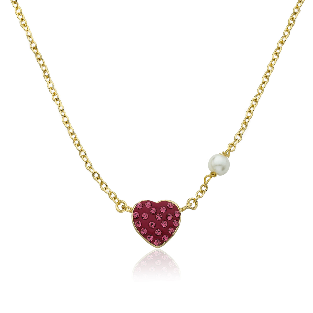 Heart Of Jewels Crystal Heart Key Chain Necklace