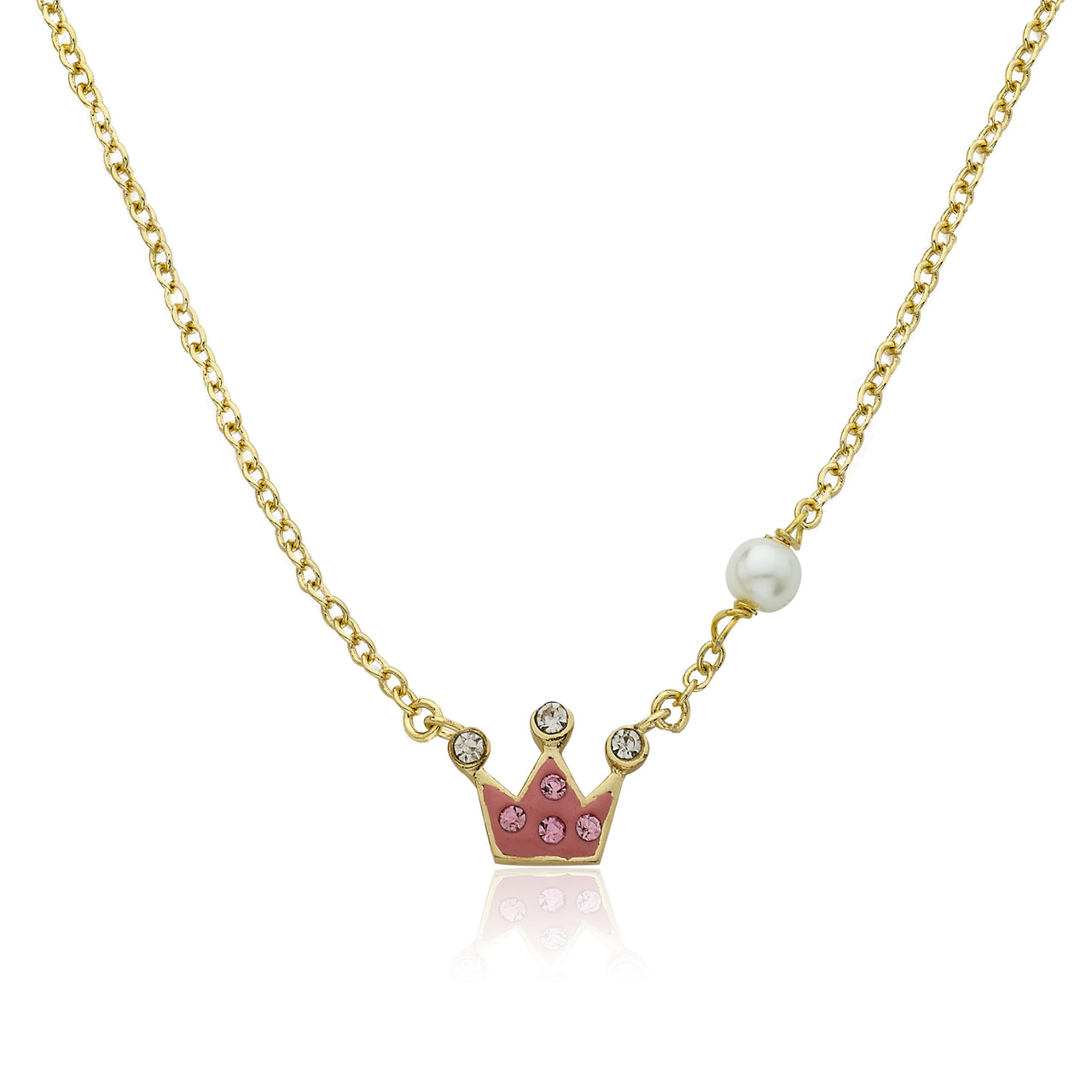 Pretty Princess Crystal Crown Necklace