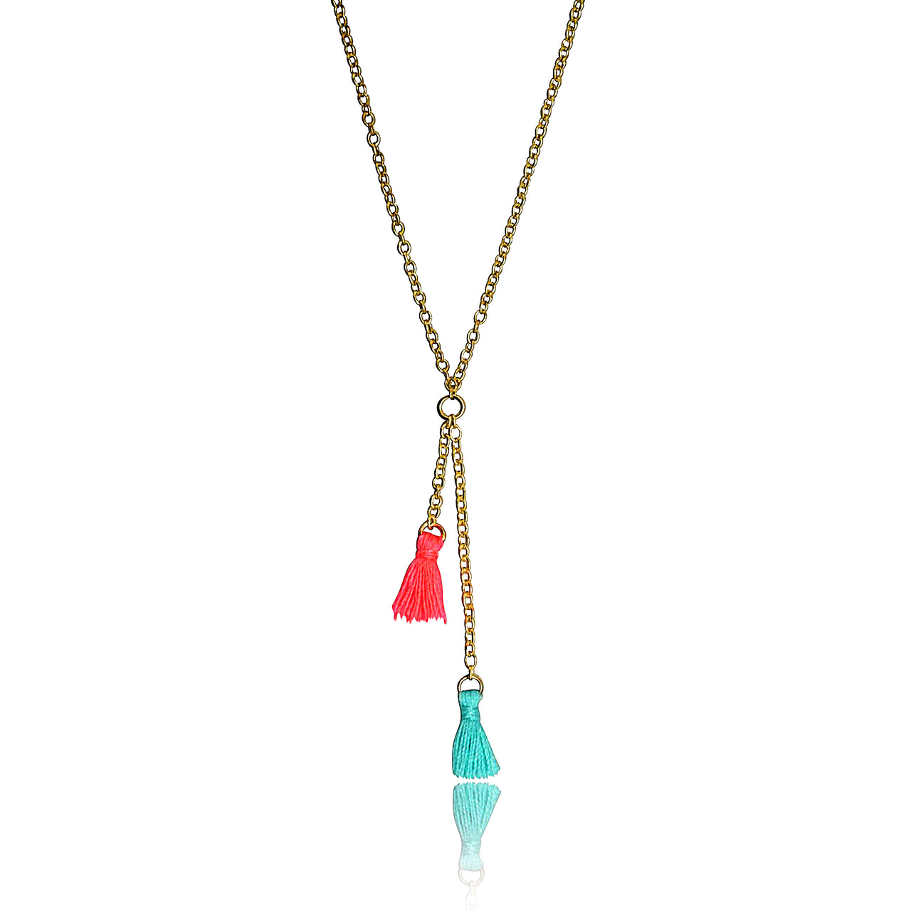 Mileez Mini Tassel Lariat Necklace