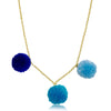 Mileez Pom Pom Dangle Necklace
