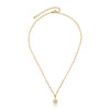 String Of Beads 14k Gold Plated Enamel Flower Dangle Chain Necklace