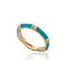 STACKABLE STUNNERS Enamel & Cubic Zirconia Thin Ring