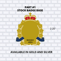Part 1 Stock Badge Base available in gold and silver custom badge