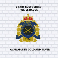 Completed 2 part custom badge ultimate promotions and 911 duty gear partnership