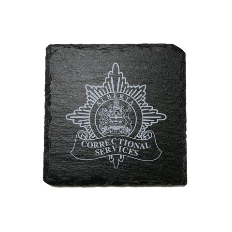 Alberta Corrections Stone Slate Coasters - Coaster - 911 Duty Gear - Patrol Gear and Gifts