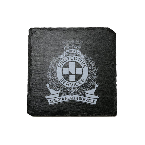 AHS Peace Officer Stone Slate Coasters - Coaster - 911 Duty Gear - 911 Duty Gear Canada - Duty Patrol Gear and Gifts. Recessed Leather Badge Wallets and ID Holders, Neck & Belt Badge Holders, Notebook Cover for Evidence, Memo book, Triform Notepads for field interviews.
